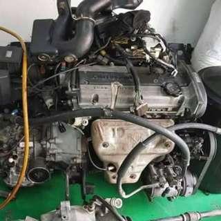Engine 4g91 twincam doch buka dari halfcut