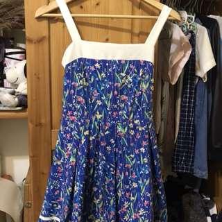 🚚 碎花藍洋裝
