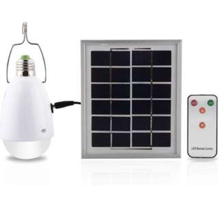 Solar LED Bulb 12 Super Bright LED Dimmable with Remote Controller