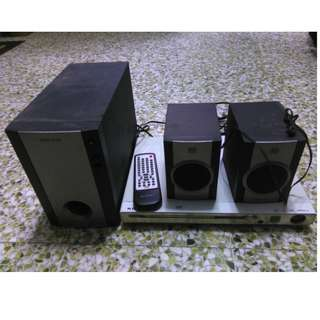 DVD player + Sonic Gear 2.1 Speakers