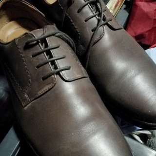 Original Clarks Mens Brown Leather Shoes (9W)