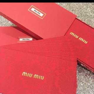 🌺Miu Miu 新春紅封包🌺一盒十個超級限量