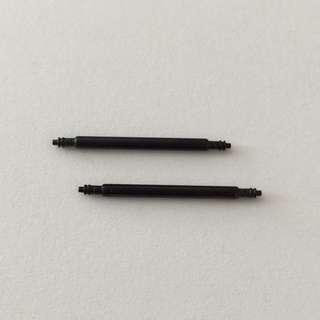 PVD Black Spring Bars 20mm 22mm