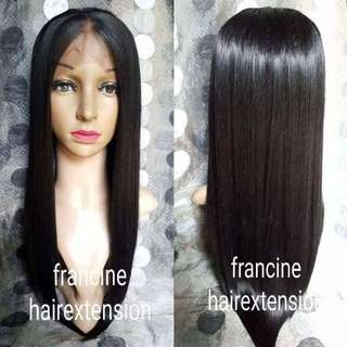 Natural black lace front wig