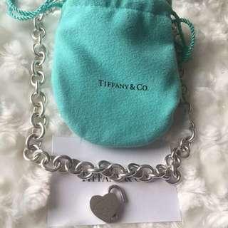 Tiffany & Co Return to Tiffany Heart Lock Pendant/Charm Necklace