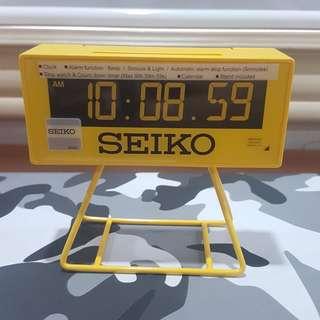 "Seiko QHL062Y Yellow ""Countdown"" Style Sports Timing Clock"