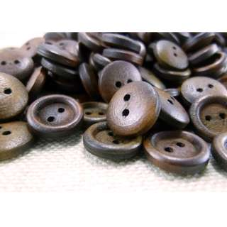 WB11173 - 12mm Simple Design Mini Wood Buttons (10 pieces) #craft