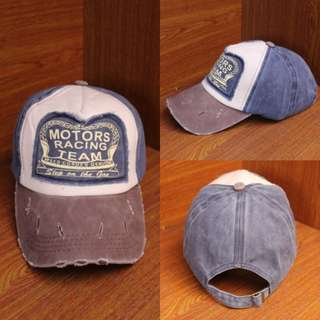 Topi Import Baseball Motors Racing Navy
