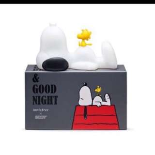 innisfree x SNOOPY sleeping lamp 小夜燈