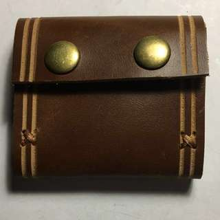 Leather coins pouch