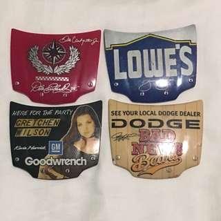 Bundle of 4 NASCAR Hood Magnets