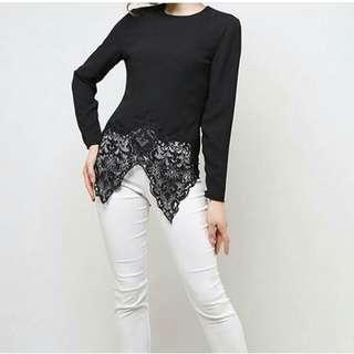 Black Kebaya Modern Lace Top