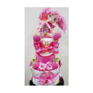Diaper Cake 3 Tiers for Baby Girl