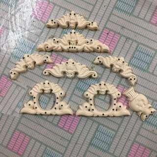 Fake Ivory Jambul Decor