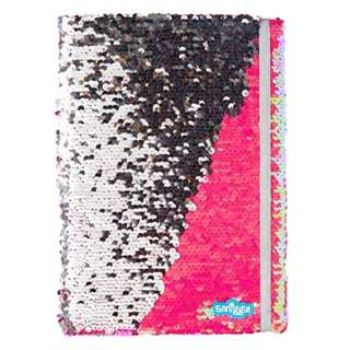 Smiggle A4 Sequins Notebook
