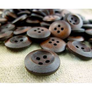 WB11167 - 15mm PlainDesign Wood Buttons (10 pieces) #craft
