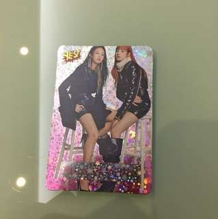 black pink yes card