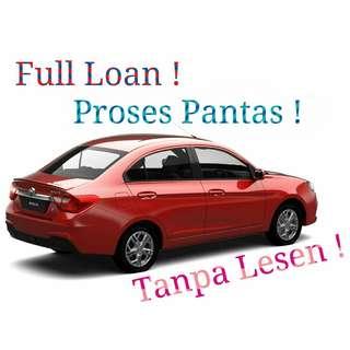 Proton Saga Muka 0,No lesen,Free gifts,Cashback