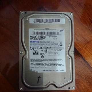 """3.5"""" 2TB SATA hard disk"""