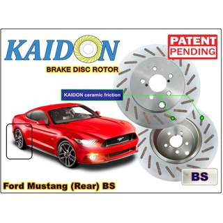 "Ford Mustang GT brake disc rotor KAIDON (REAR) type ""RS"" / ""BS"" spec"