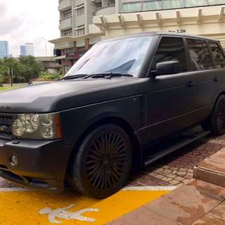 Satin Black Overfinch 5.0L Range Rover 2004