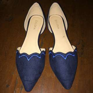 Free SF! Scalloped Ballerina Flats