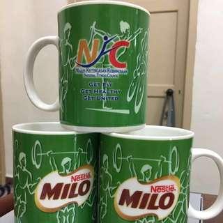 Milo cup with Majlis Kecergasan Kebangsaan-3pcs