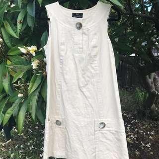 Cue Linen Blend Shift Dress Size 6