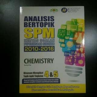 Analisis Bertopik SPM Chemistry