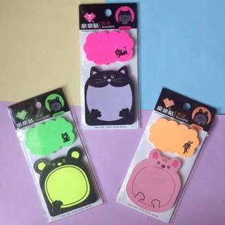 Animal Character Sticky Note