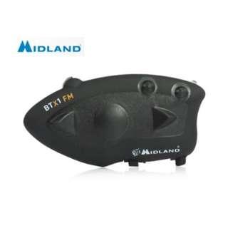 MIDLAND BTX1 BLUETOOTH MOTORCYCLE MOTORBIKE HELMET INTERCOM HEADSET WATER-RESISTANT INTERPHONE