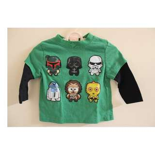 Star Wars Long Sleeves for baby boy
