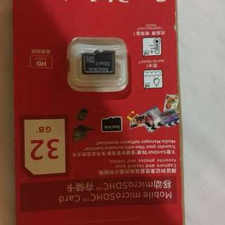 Micro sd card Sandisk 32gb