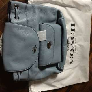 Coach pebble leather mini billy backpack