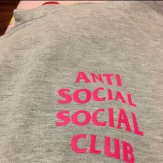Anti social social club 正版 灰色帽t