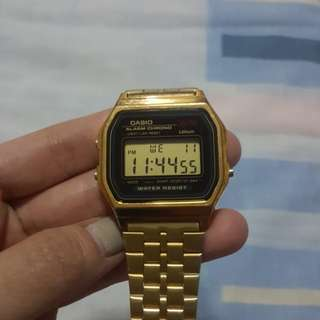Casio gold watch