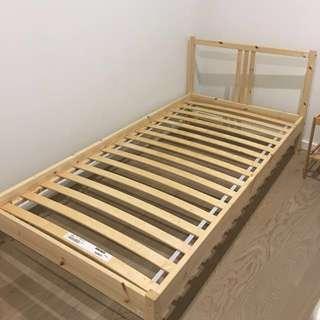 Single bed frame & mattress