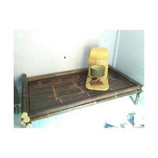 BAMBOO BED + LAMPU IKAN + FOLDING CHAIR