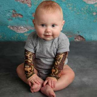 Baby clothes - with Big Bro tattoo design