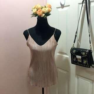 Silky sleeveless top (pink)