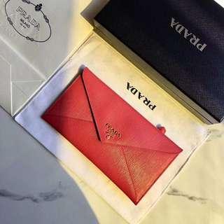 Prada wallet!信封銀包
