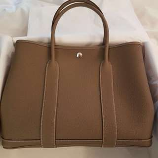 100% New and authentic Hermes Garden Party 36 Etoupe