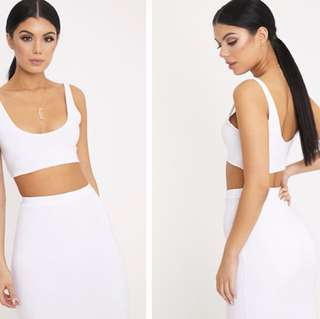 Slinky White Crop Top
