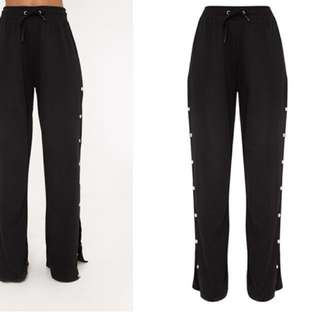 Black Button Down Trackpants