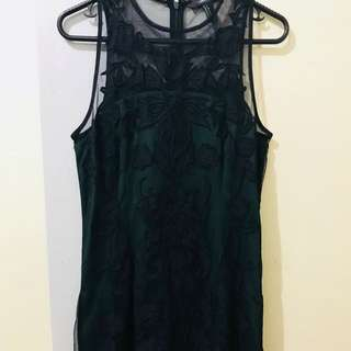 NEW Forever 21 Black and Green Lace Dress