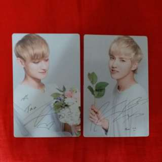 *Nature Republic Exo 簽名小卡 (Each $8)