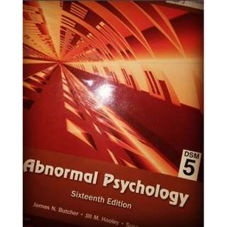 Abnormal Psychology DSM-5 16th edition