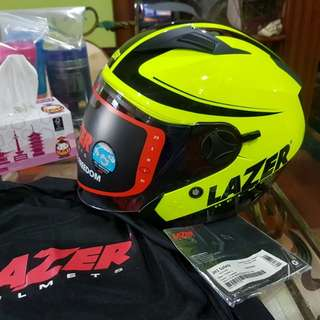 Lazer JH1 Helmet With Built In Sun Visor.