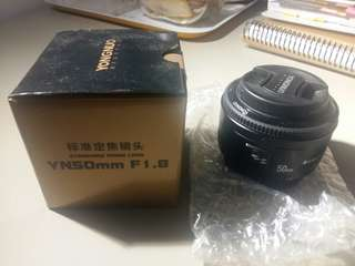 Brand new Yong Nuo 50mm F1.8 for Canon