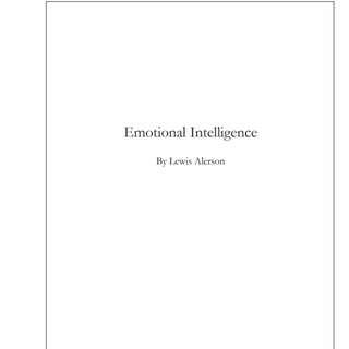 Emotional Intelligence By Lewis Alerson